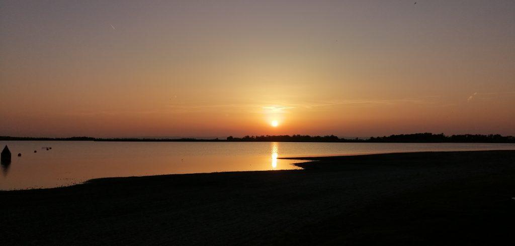 Sonnenuntergang am Zicksee